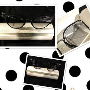 Jimmy Choo Sunglasses With Magnetic Closure Case